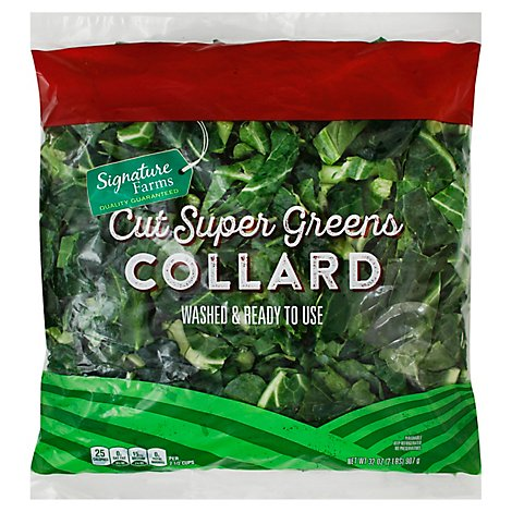 Signature Farms Collard Cut Super Greens - 32 Oz