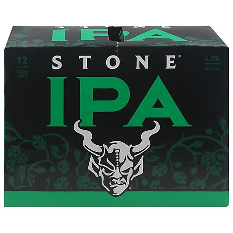 Stone Ipa In Cans - 12-12 Fl. Oz.