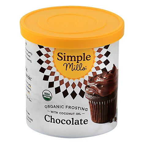 Simple Mills Organic Frosting Chocolate with Coconut Oil - 10 Oz