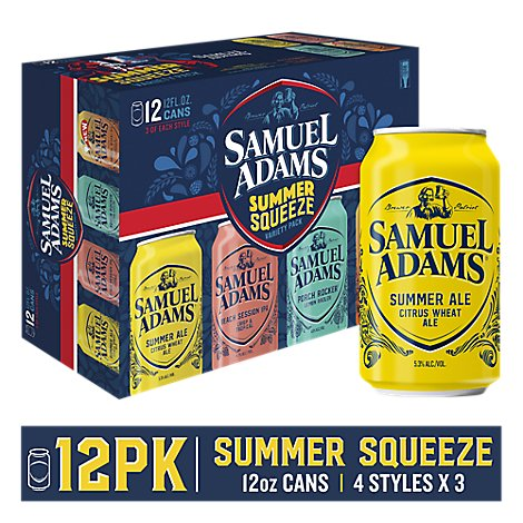 Samuel Adams Sips of Summer Beer Seasonal Variety Pack - 12-12 Fl. Oz.
