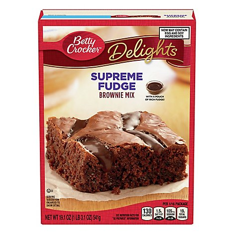 Betty Crocker Brownie Mix Delights Fudge Molten Lava - 19.1 Oz