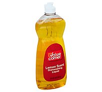 Value Corner Dishwashing Liquid Lemon Scent Bottle - 20 Fl. Oz.