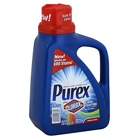 Purex Laundry Detergent Plus Clorox2 Original Fresh - 43.5 Fl. Oz.