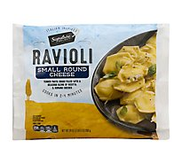Signature Select Ravioli Cheese Mini Round - 24 Oz