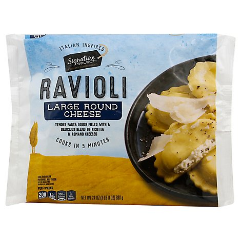 Signature Select Ravioli Cheese Round - 24 Oz