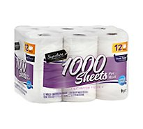 Signature Care/Home Bathroom Tissue 1-Ply Wrapper - 12 Count