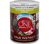 Purina ONE SMARTBLEND Dog Food Adult Tender Cuts in Gravy with Real Chicken & Duck Can - 13 Oz