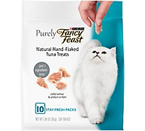 Fancy Feast Purely Cat Treats Natural Hand Flaked Tuna Pouch - 1.06 Oz