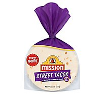 Mission Tortillas Flour Street Tacos Bag 12 Count - 11 Oz