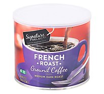 Signature SELECT Coffee Ground Medium Dark Roast French Roast - 24.2 Oz