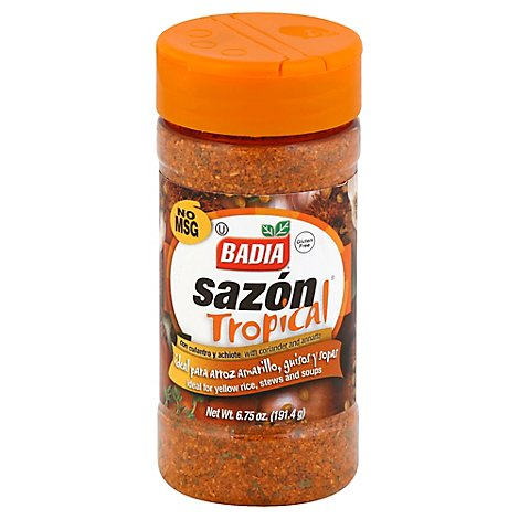 Badia Sazon Tropical Coriander & Annatto - 6.75 Oz