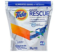 Tide Odor Rescue Laundry Booster In Wash With Febreze Odor Defense Pouch - 9 Count