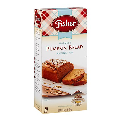 Fisher Baking Mix Harvest Pumpkin Bread - 16 Oz