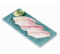 Seafood Service Counter Fish Tilapia Fillet Seasoned Fresh - 0.50 LB