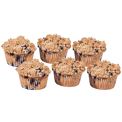 Fresh Baked Blueberry Muffins - 6 Count