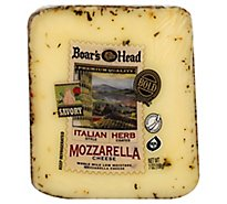 Boars Head Cheese Mozzarella Italian Herb - 7 Oz