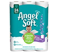 Angel Soft Bathroom Tissue Double Rolls 2-Ply Lavender Wrapper - 12 Roll