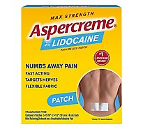 Aspercreme Lidocaine Patch Max Strength 4% - 5 Count