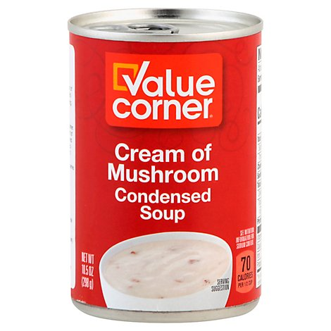 Value Corner Soup Condensed Cream of Mushroom - 10.5 Oz