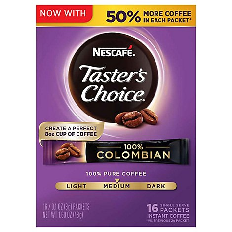 NESCAFE Tasters Choice Coffee Instant Colombian - 8-0.106 Oz
