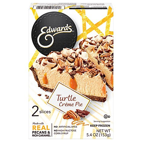 EDWARDS Pie Turtle 2 Slices Frozen - 5.4 Oz
