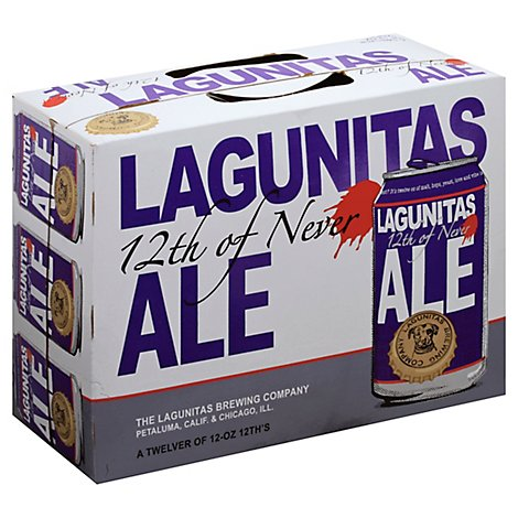 Lagunitas Beer Ale 12th Of Never Can - 12-12 Fl. Oz.