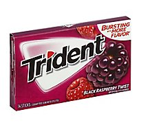 Trident Gum Twist Black Raspberry Sugar Free - 18 Count