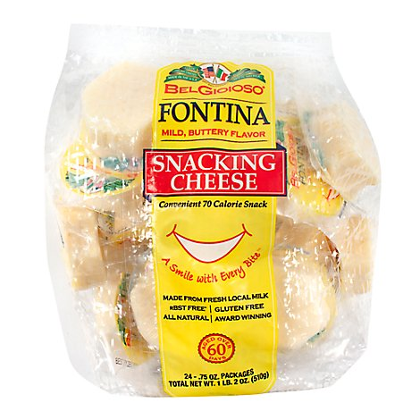 Belgioioso Fontina Snacking Cheese - 18 Oz