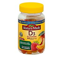 Nature Made Dietary Supplement Adult Gummies Vitamin D3 Assorted - 150 Count