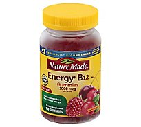 Nature Made Adult Gummies Energy B12 1000 Mcg Per Serving Cherry & Mixed Berries - 150 Count