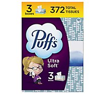 Puffs Ultra Soft Facial Tissues Non Lotion White 3 Pack - 3-124 Count