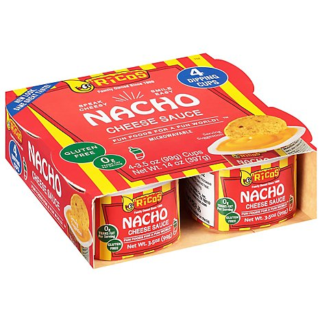 Ricos Sauce Cheese Nacho Box - 4-3.5 Oz