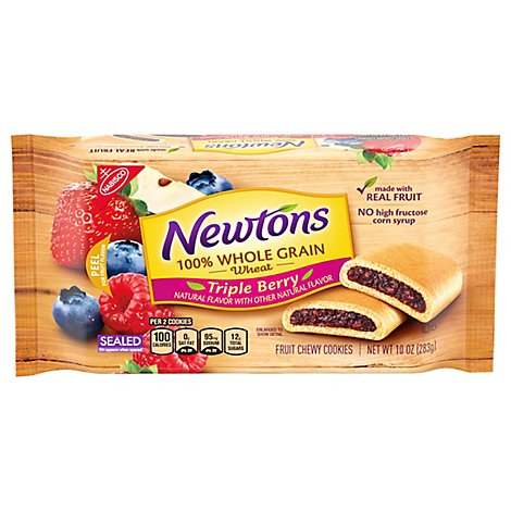 Newtons Cookies 100% Whole Grain Triple Berry - 10 Oz