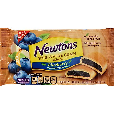 Newtons Cookies 100% Whole Grain Blueberry - 10 Oz