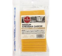 Primo Taglio Cheese Cheddar Medium Pre Sliced - 0.50 LB