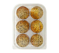 Fresh Baked Lemon Poppy Muffins - 6 Count