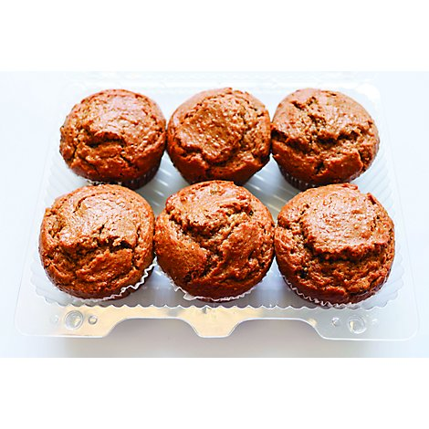 Bakery Muffins Ras Inch Bran 6 Count - Each