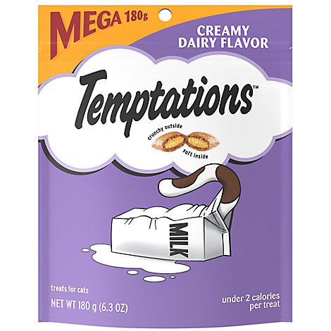 TEMPTATIONS Classic Cat Treats Crunchy And Soft Creamy Dairy Flavor - 6.3 Oz