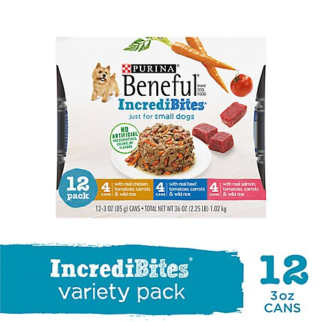 Beneful IncrediBites Dog Food For Small Dogs Assorted Box - 12-3 Oz