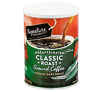Signature SELECT Coffee Ground Medium Dark Roast Classic Roast Decaffeinated - 11.3 Oz