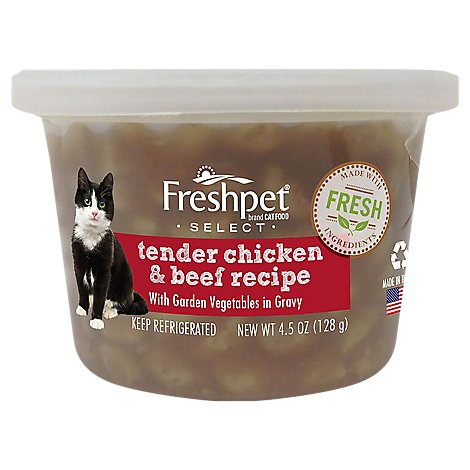 Freshpet Select Cat Food Tender Chicken & Beef Recipe Tub - 4.5 Oz