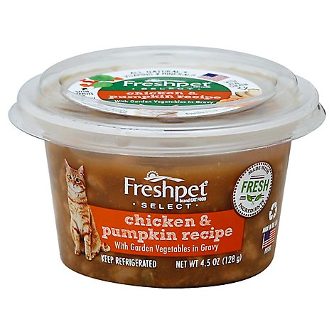Freshpet Select Cat Food Chicken & Pumpkin Recipe Tub - 4.5 Oz
