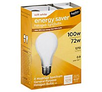 Signature SELECT Light Bulb Halogen Soft White 72W 1270 Lumens - 4 Count