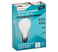 Signature SELECT/Home Light Bulb Halogen Soft White 43W 620 Lumens - 4 Count