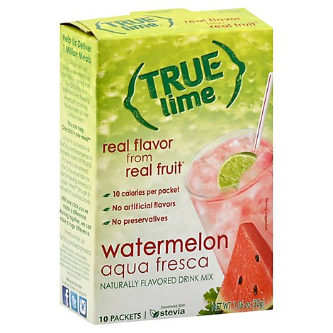 True Lime Watermelon Aqua Fresca - 10 Count