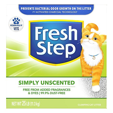 Fresh Step Cat Litter Scoopable Multi-Cat Unscented Box - 25 Lb