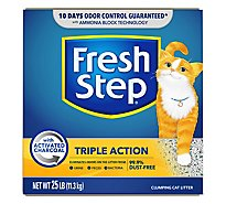 Fresh Step Cat Litter Scoopable Triple Action Scented Box - 25 Lb
