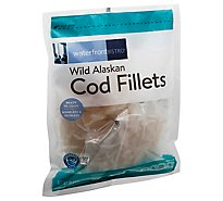 waterfront BISTRO Cod Fillets Wild Alaskan Boneless & Skinless - 16 Oz