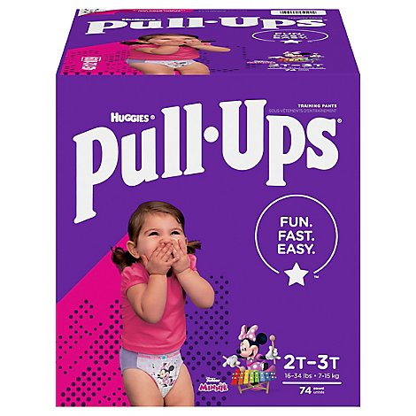 Pull-Ups Training Pants Learning Designs 2T-3T Day & Night Disney - 74 Count