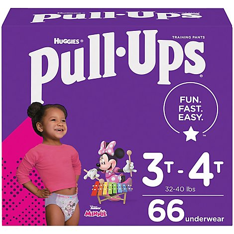 Pull-Ups Training Pants Learning Designs 3T-4T Day & Night Disney - 66 Count